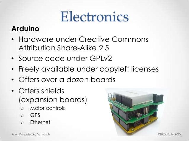 08.05.2014M. Krogulecki, M. Pioch 25 Arduino • Hardware under Creative Commons Attribution Share-Alike 2.5 • Source code u...