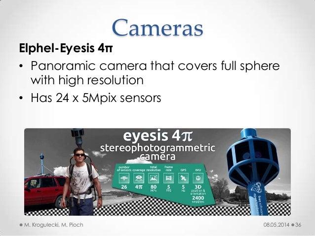 08.05.2014M. Krogulecki, M. Pioch 36 Elphel-Eyesis 4π • Panoramic camera that covers full sphere with high resolution • Ha...