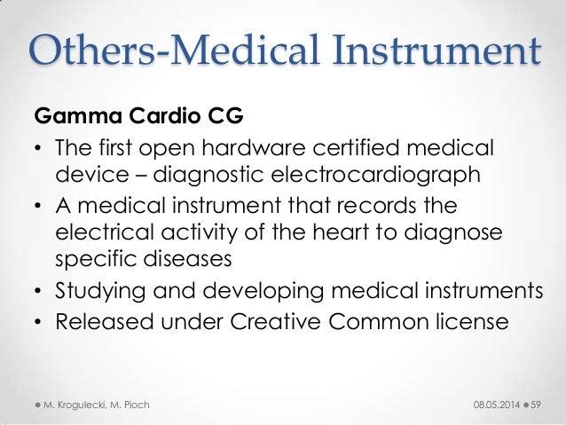 08.05.2014M. Krogulecki, M. Pioch 59 Gamma Cardio CG • The first open hardware certified medical device – diagnostic elect...
