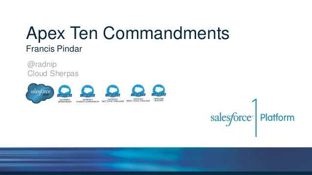 Apex Ten Commandments Francis Pindar @radnip Cloud Sherpas