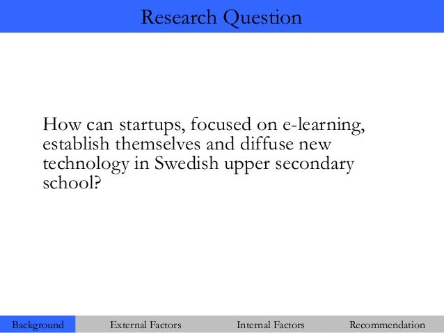 E-learning thesis