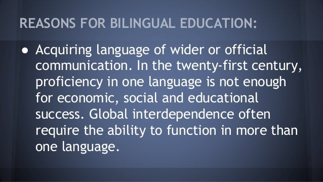 benefits of bilingual education pdf