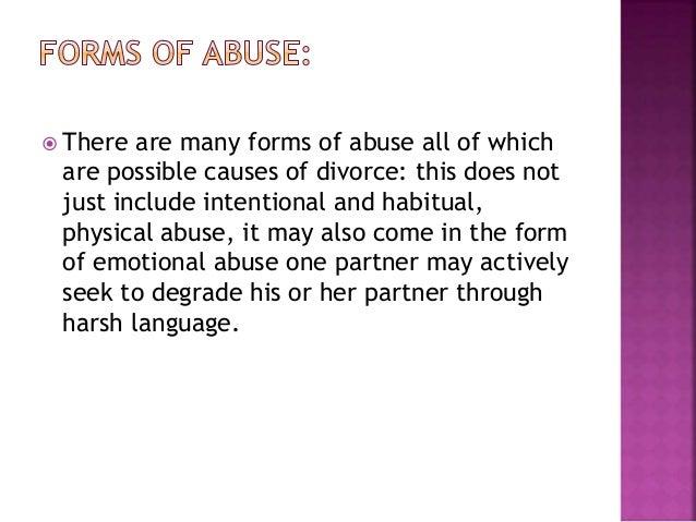 psychological reasons for divorce