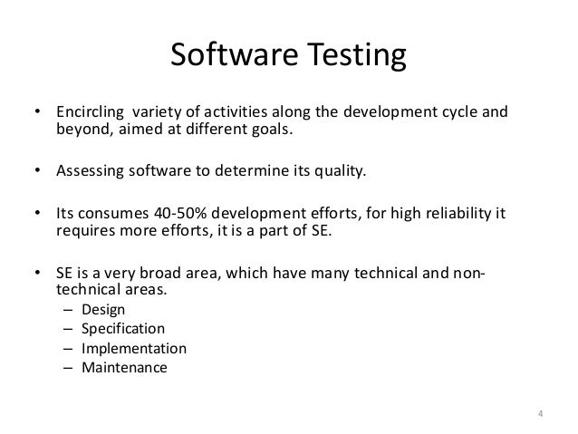 software testing research papers 2011 Importance of software testing in software development life software testing my research area is software engineering.