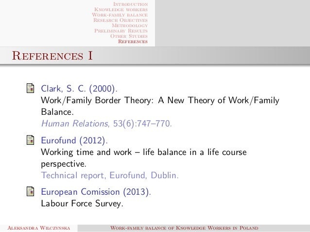work family balance of knowledge workers in   work family balance of knowledge workers in 23