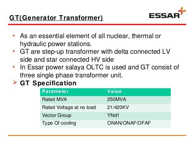 Vocational Trainning Presentation At Essar Power Salaya  Electrical E U2026