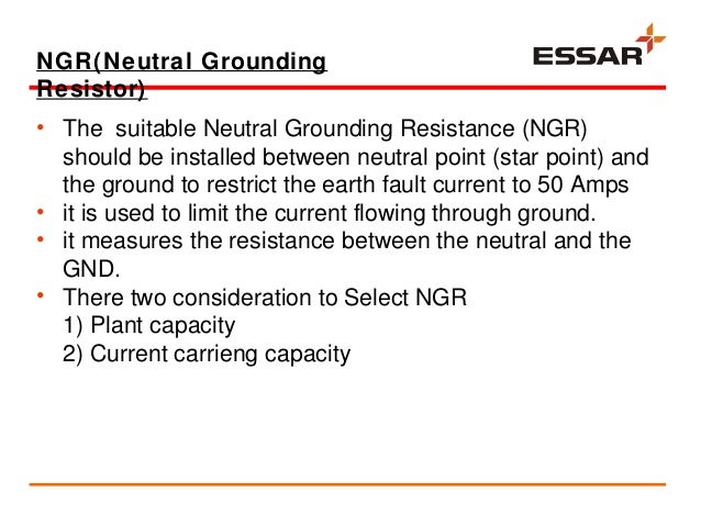 vocational trainning presentation at essar power salaya electrical e 21 ngr neutral grounding resistor