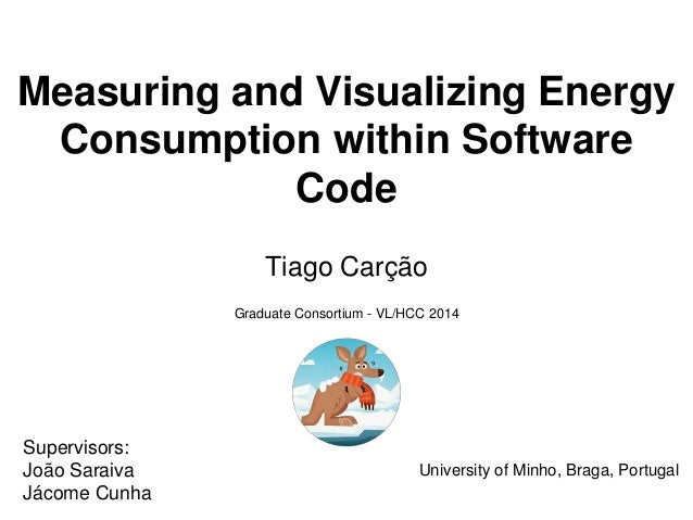Measuring and Visualizing Energy Consumption within Software Code Tiago Carção University of Minho, Braga, Portugal Superv...