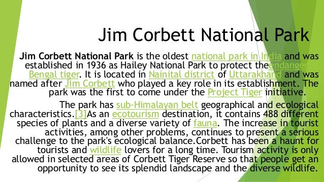 Ecotourism of jim corbett national park