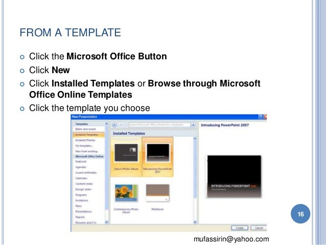 templates for microsoft powerpoint 2007