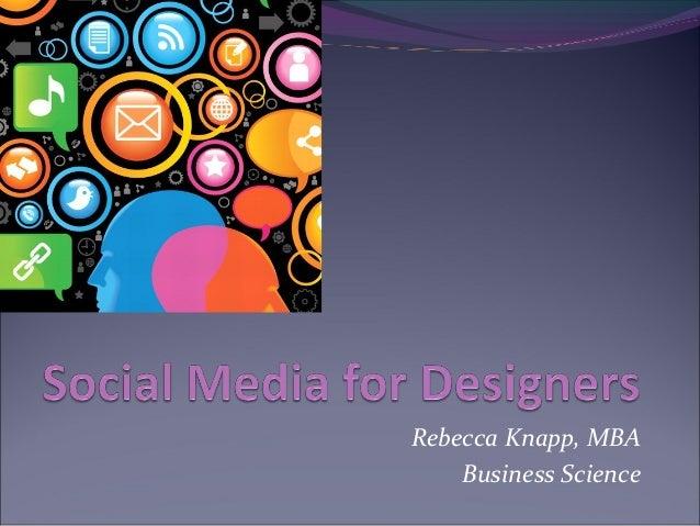 Rebecca Knapp, MBA  Business Science
