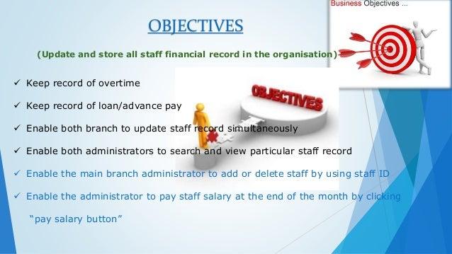 presentation on a payroll system