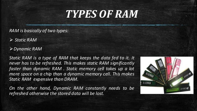 Ram (random access memory) ppt video online download.