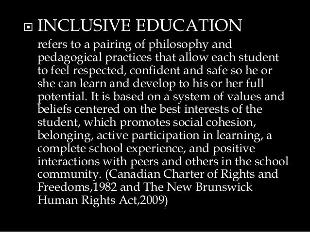 special education teaching philosophy