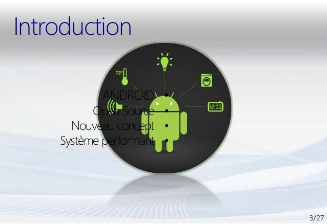 Ma présentation PFE : Application Android & Site Web Slide 3