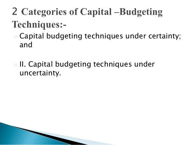 Presentation on capital budgeting Slide 2