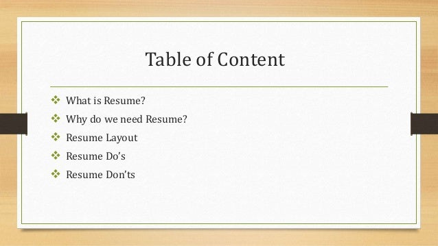 Superior Professional Resume Open The Door To Opportunity; 2. Table Of Content  What  Is ... In What Is Resume