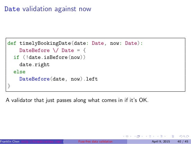 Fuss-free data validation without using exceptions: Scala