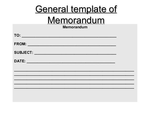 5+ Office Memo Format Template | Blank Data Tableoffice Memo