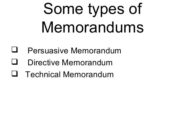 directive memorandum technical memorandum 14