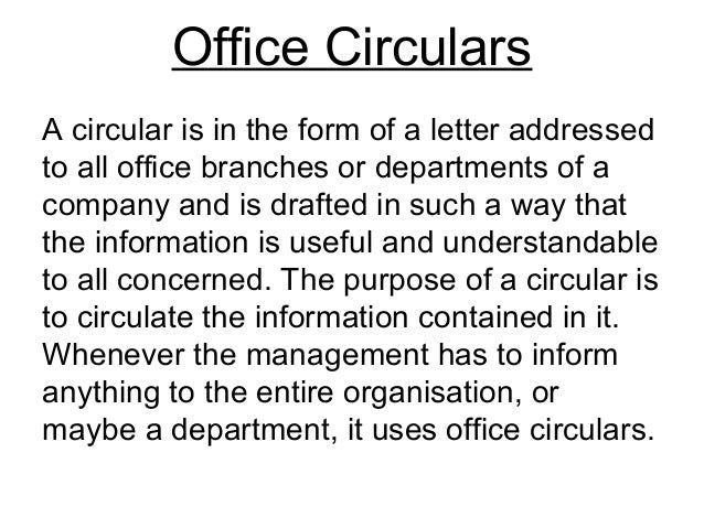 circular writing sample
