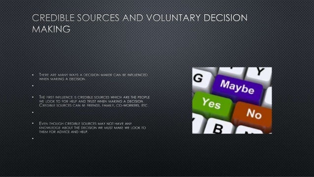 Decision making and critical thinking