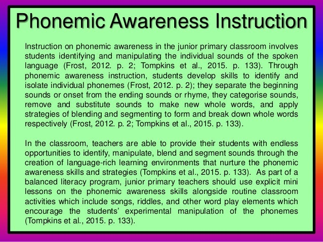 Phonemic Awareness And Phonics By Lindsay Dunn