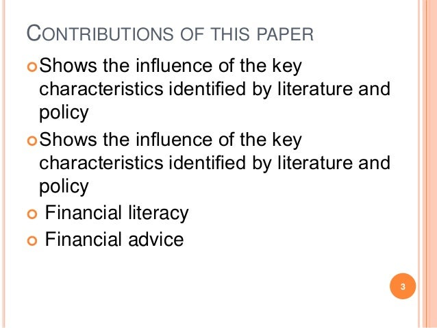 research papers on finance