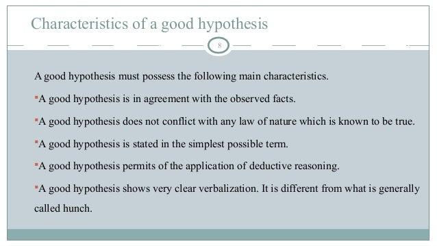 hypothesis sentence
