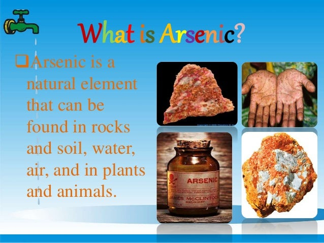 Arsenic contamination in ground water for What is found in soil