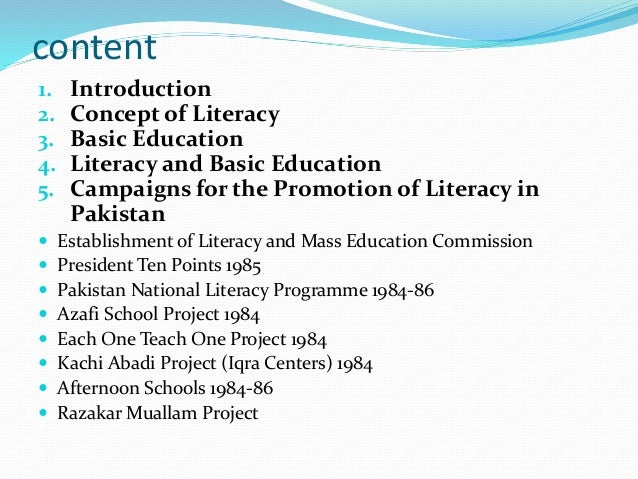 factors affecting pakistans literacy rate Literacy, education and economic development a nation with high literacy rate is kah-mun, literacy, education and economic development in contemporary.