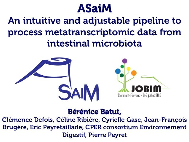 ASaiM An intuitive and adjustable pipeline to process metatranscriptomic data from intestinal microbiota Bérénice Batut, C...