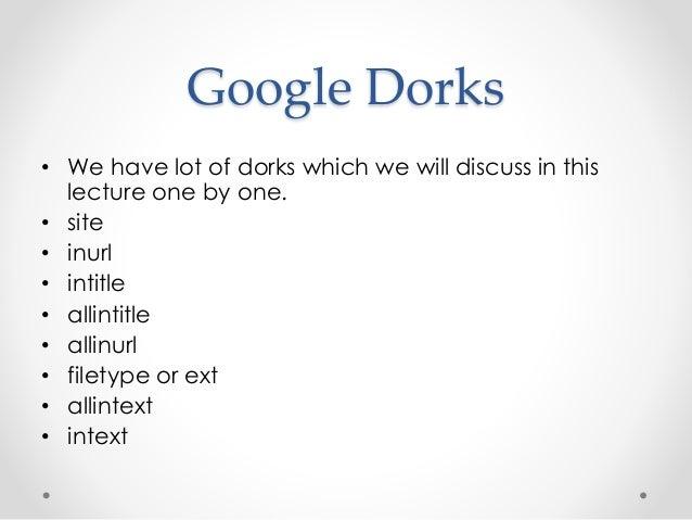 Google Dorks and SQL Injection