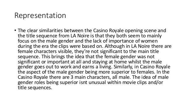 Casino royale narrative structure pala casino oak room reviews