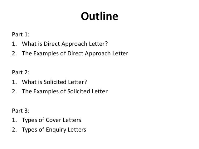 Business Letter Using Direct Approach Solicited