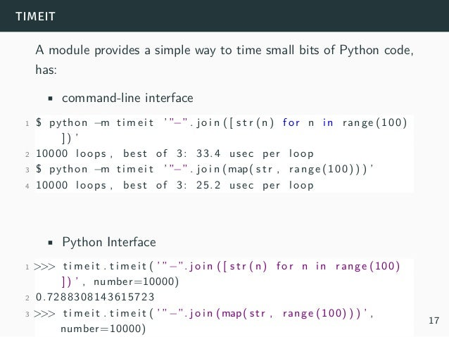 What's eating python performance