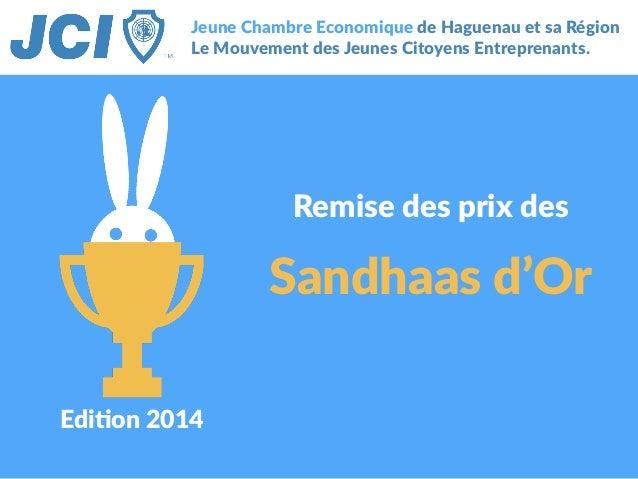 Edi$on 2014 Jeune Chambre Economique de Haguenau et sa Région  Le Mouvement des Jeunes Citoyens Entreprenant...