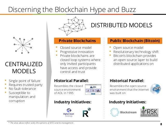 8 Discerning the Blockchain Hype and Buzz • Single point of failure • Requires trusted party • No fault-tolerance • Suscep...