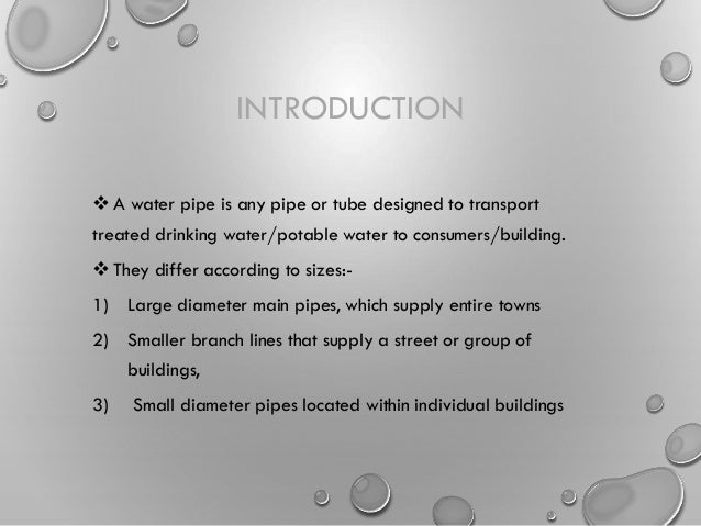 & Types of pipes