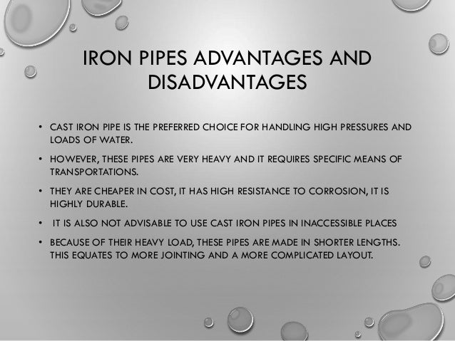 38. IRON PIPES ADVANTAGES AND DISADVANTAGES ...  sc 1 st  SlideShare & Types of pipes