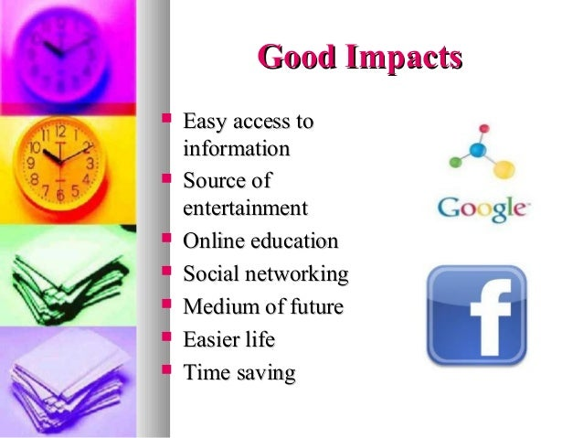 Impacts of internet
