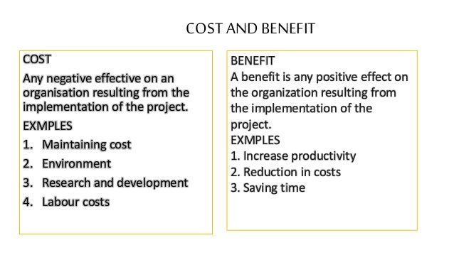 the importance and benefits of the cost benefit analysis cba When the alternative with the lowest discounted cost provides the highest discounted benefits,  reliability of the results obtained from the cost-benefit analysis.
