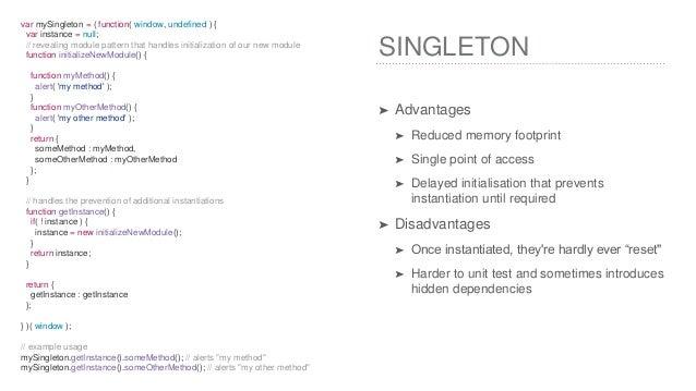 Singleton Design Pattern Advantages And Disadvantages