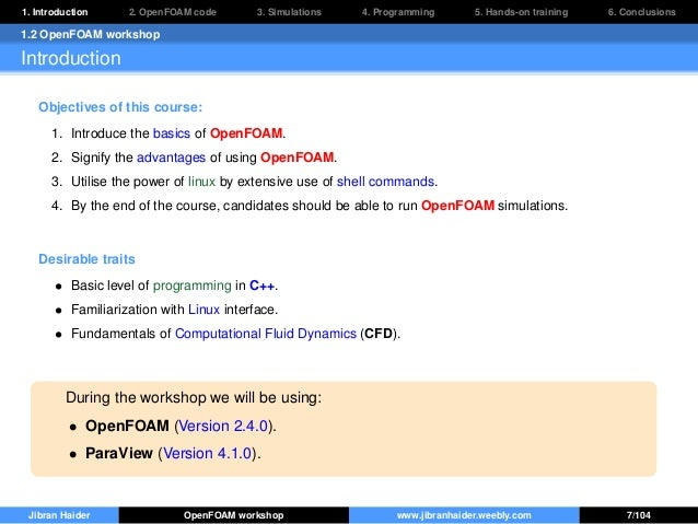 OpenFOAM for beginners: Hands-on training