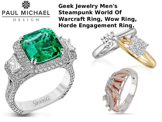 geeky wedding rings jewelry by paul michael design 4465