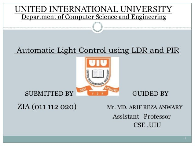 Automatic Light Control using LDR and PIR Sensor