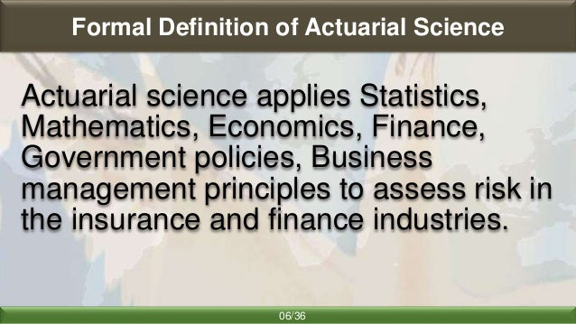 actuarial science in global context