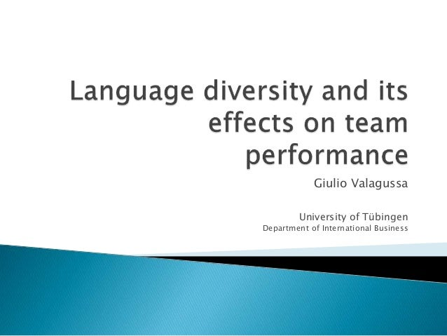 the impact of cultural diversity on team performance Our exploratory study focused on the effects of cultural diversity and ict on team  effectiveness interviews with 41 team members from nine.