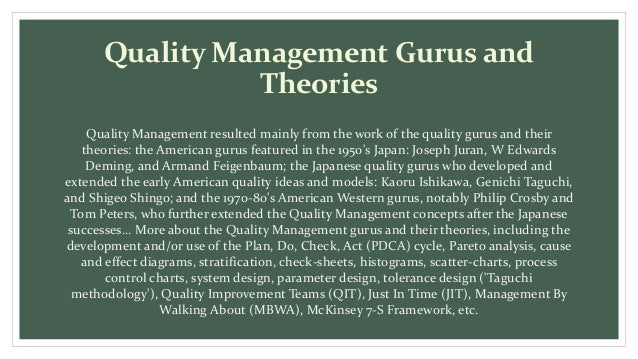 quality gurus Dr kaoru ishikawa is best known for the quality tool named for him - the ishikawa diagram, also known as the fishbone or cause-and-effect diagram his major contribution to the field of quality include, a) simplification and spread of '7-qc tools' as a unified system, b) input to 'company-wide quality control' (cwqc) movement, and c.