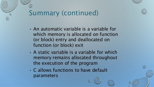 Global variables, sorting static variables,function and arrays,